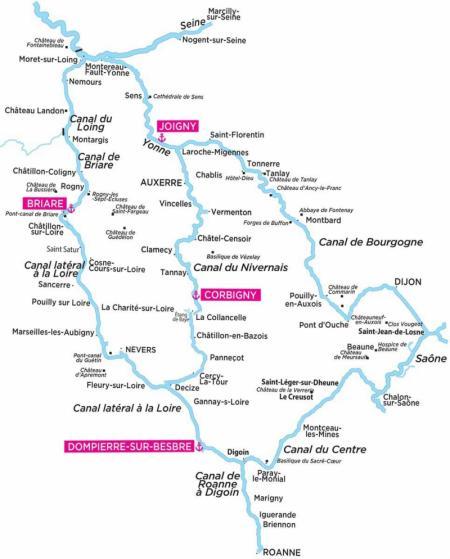 Locaboat Canal du Nivernais & Yonne