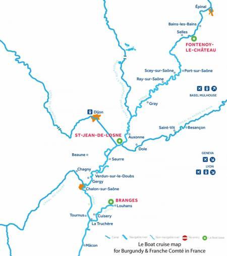 Le Boat Bourgogne-Franche-Comté et les Vosges