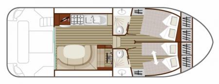 Plan du bateau Nicols QUATTRO Nicols