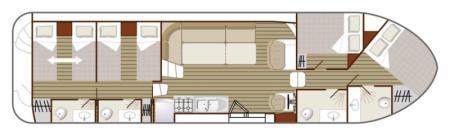 Plan du bateau Nicols 1350 Nicols
