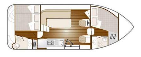 Plan du bateau Nicols 900 DP Nicols