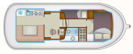 Plan du bateau Locaboat P935W Locaboat