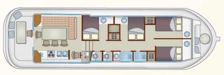 Plan du bateau Locaboat P1500R Locaboat