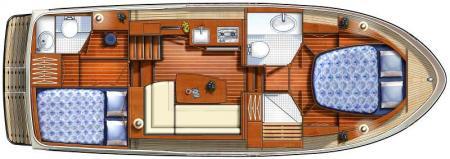 Plan du bateau France Afloat Linssen 30.9 Aft Cabin France Afloat