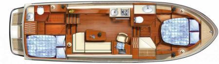 Plan du bateau France Afloat Linssen 33.9 Aft cabin France Afloat