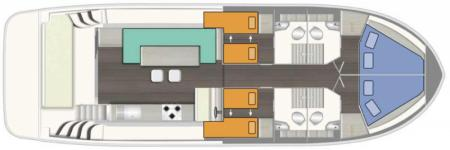 Plan du bateau Le Boat Horizon 4 Le Boat