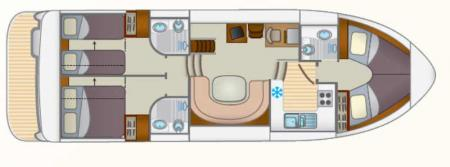Plan du bateau Locaboat Europa 600 Locaboat