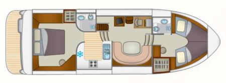 Plan du bateau Locaboat Europa 400 Locaboat