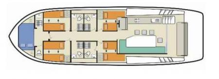 Plan du bateau Le Boat Horizon 5 Le Boat