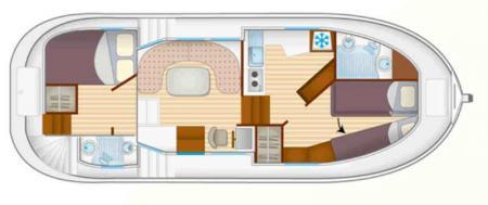 Plan du bateau Locaboat P1020FB Locaboat