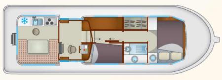 Plan du bateau Locaboat P1106FB Locaboat