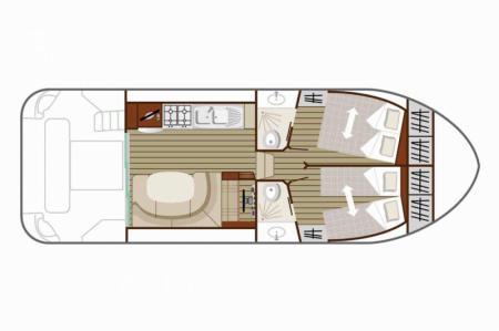 Plan du bateau Nicols QUATTRO B Nicols
