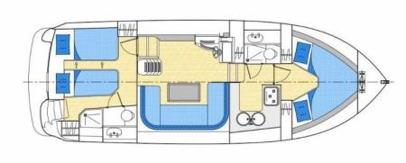 Plan du bateau Locaboat Europa 300 Locaboat