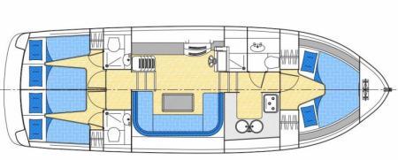 Plan du bateau Locaboat Europa 500 Locaboat