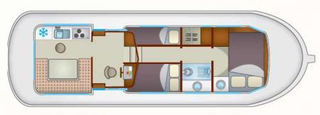 Plan du bateau Locaboat P1107W Locaboat