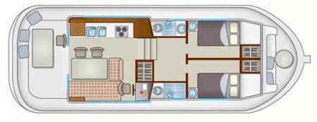 Plan du bateau Locaboat P1120R Locaboat