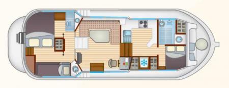 Plan du bateau Locaboat P1165FB Locaboat