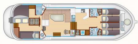Plan du bateau Locaboat P1400FB Locaboat