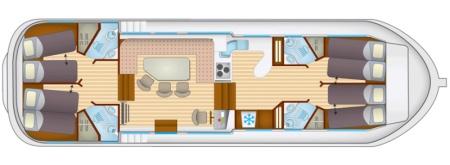 Plan du bateau Locaboat P1500FB Locaboat