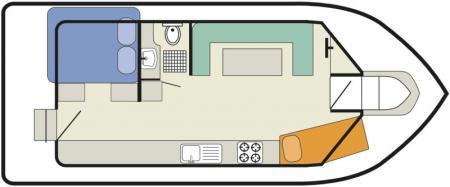Plan du bateau Le Boat Cirrus B Le Boat