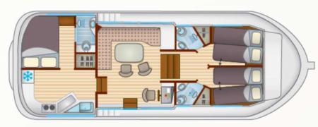 Plan du bateau Locaboat P1180FB Locaboat