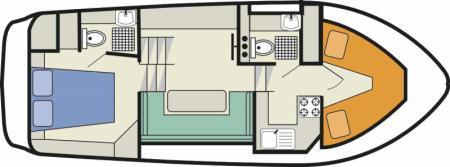 Plan du bateau Le Boat Countess Le Boat