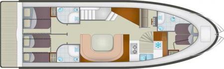 Plan du bateau Locaboat Europa 700 Locaboat