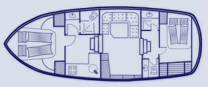 Plan du bateau Saône Bateaux BWS Cruiser 1150 Annelies Saône Bateaux