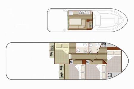 Plan du bateau Nicols 1170 Nicols