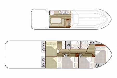 Plan du bateau Nicols 1310 Nicols